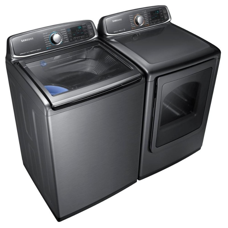samsung washer wa48j7770ap and samsung electric dryer dv48j7770ep set