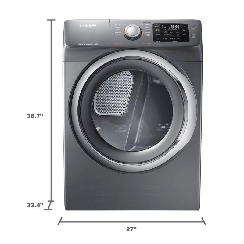 Samsung Dv42h5200ep 7 5 Cu Ft Electric Dryer With Steam In Platinum