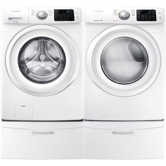 Samsung DV42H5000GW 7.5 cu. ft. Front‑Loading Gas Dryer, WF42H5000AW 4.2 cu. ft. HE Front Load Washer in White