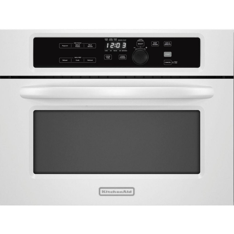 Kitchenaid Architect Series Ii Kbms1454bwh 1 4 Cu Ft Built In Microwave White With Sensor Cooking