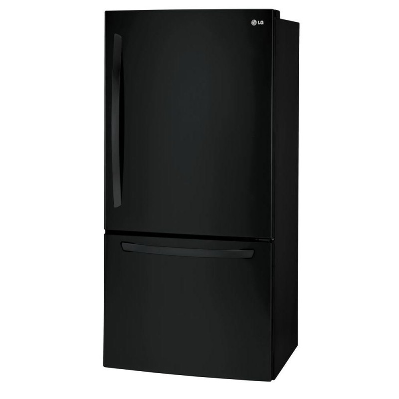 Lg Ldcs24223b 24 Cu Ft Bottom Freezer Refrigerator In