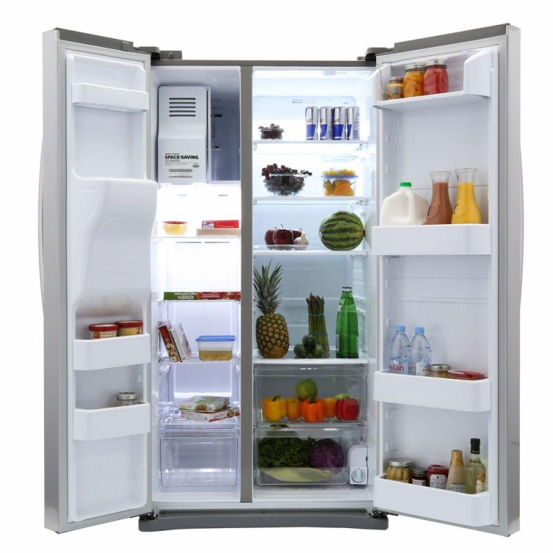 Samsung Rs25j500dsr 24 5 Cu Ft Side By Side Refrigerator
