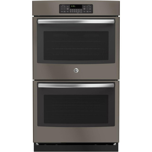 GE JT3500EJES 30 in. Double Electric Wall Oven Self-Cleaning with Steam in Slate
