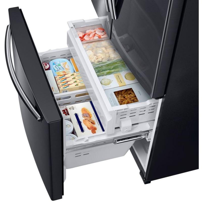 Samsung French Door Refrigerator Black Stainless Steel 25