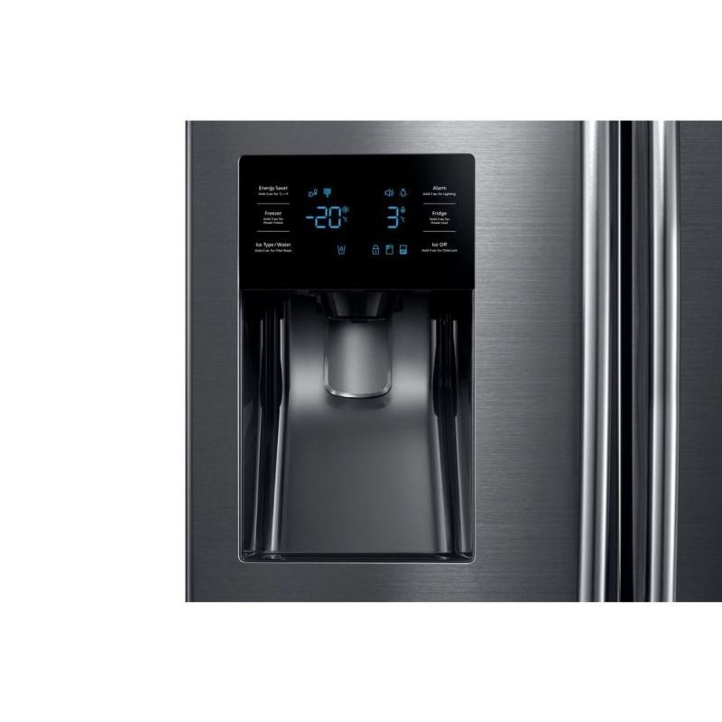 Samsung French Door Refrigerator Black Stainless Steel 25 Cuft