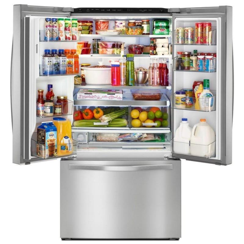 Whirlpool Wrf993fifm00 36 In W 32 Cu Ft French Door Refrigerator