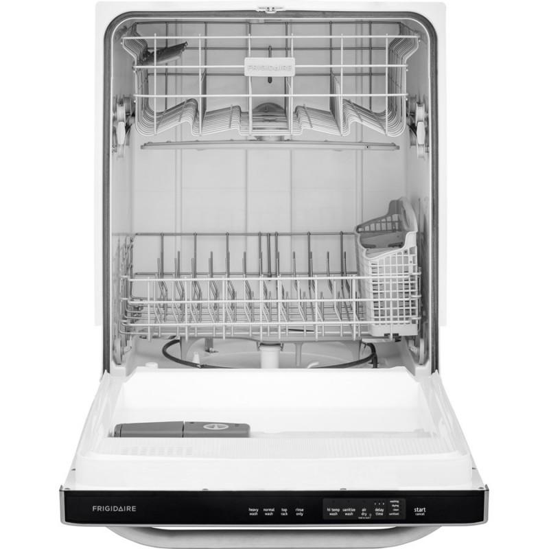 Frigidaire Ffbd2411 24 In 55 Decibel Built In Dishwasher: Frigidaire 55-Decibel Built-in Dishwasher With Hard Food