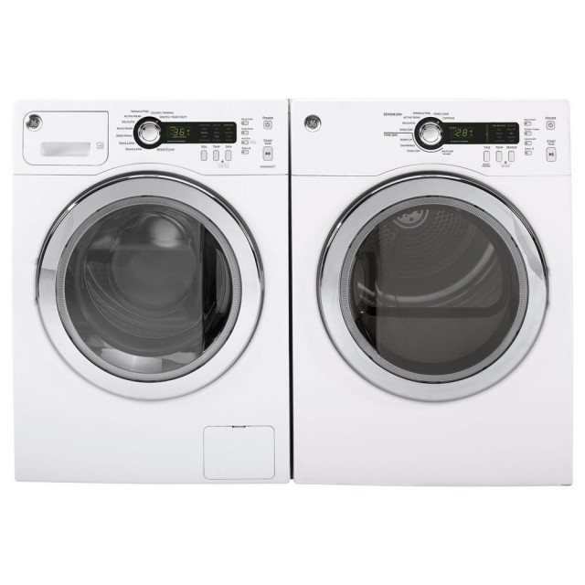 GE DCVH480EKWW Front‑Loading Compact Electric Dryer-GE WCVH4800KWW Compact Front‑Loading Washer