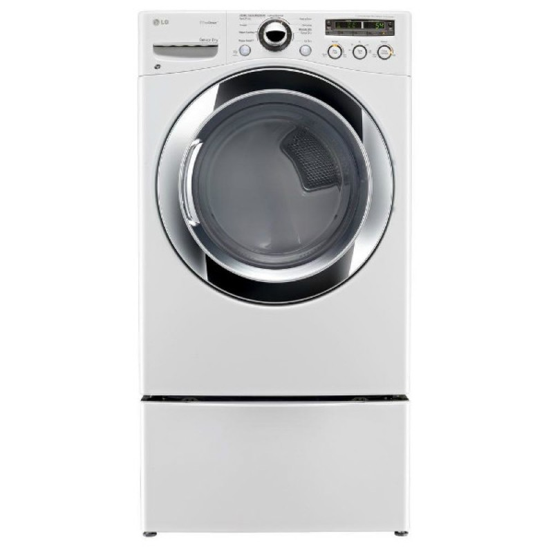 lg dlex2650w 73 cu ft electric dryer with steam in white