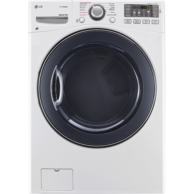 LG DLEX3570W 7.4 Cu. Ft. 12-Cycle Electric Dryer with TrueSteam  in White
