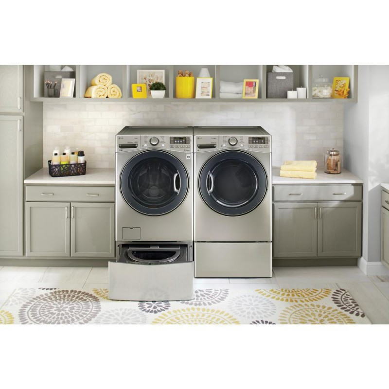 in graphite drawer laundry steel with pedestal lg storage