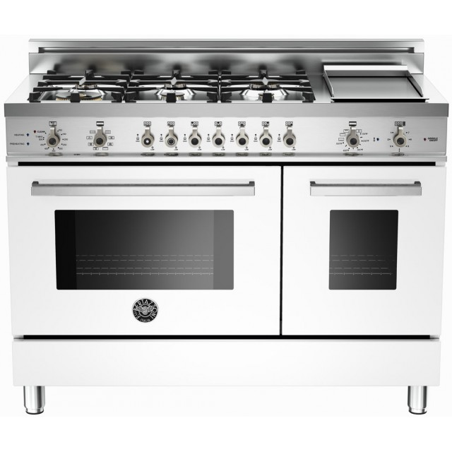 Bertazzoni Master Series MAS486GGASXT 48 In. 5.8 cu. ft. Freestanding Gas Range with 6 Burners in Stainless Steel
