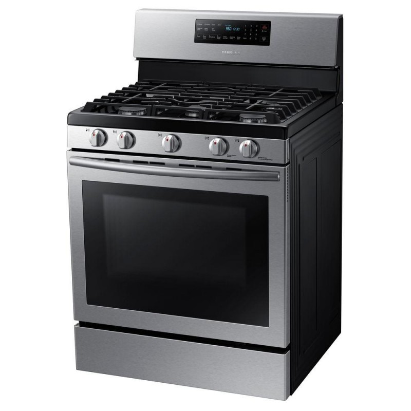 1704b8c2e9c Samsung NX58H5600SS 30 in. 5.8 cu. ft. Gas Range with Self-Cleaning and Fan  Convection Oven in Stainless Steel