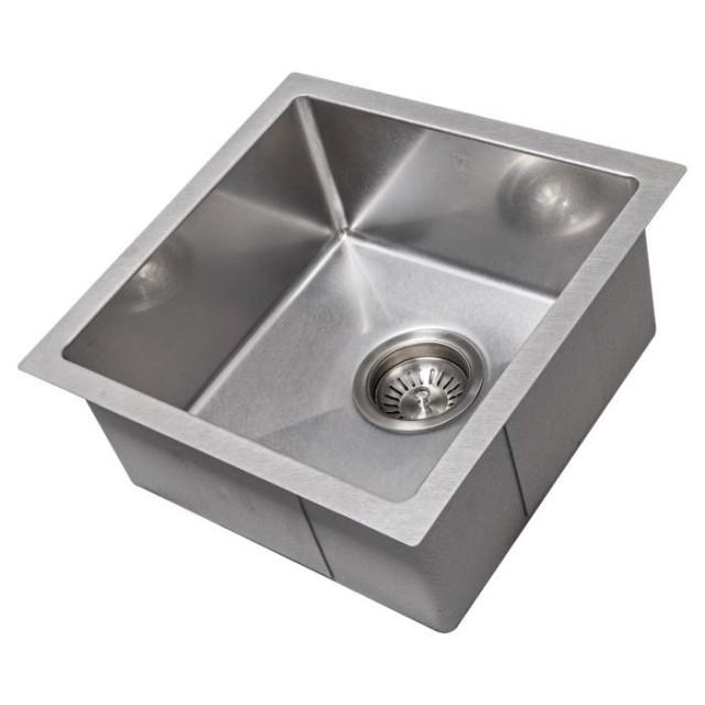 ZLINE Boreal 15 inch Undermount Single Bowl Bar Sink in DuraSnow® Stainless Steel (SUS-15S)