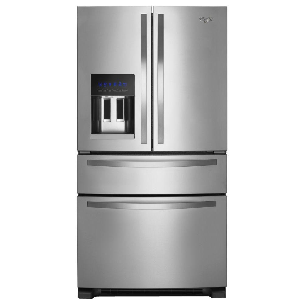 Whirlpool WRX735SDBM 24.5 Cu. Ft. French Door Refrigerator In Monochromatic  Stainless Steel