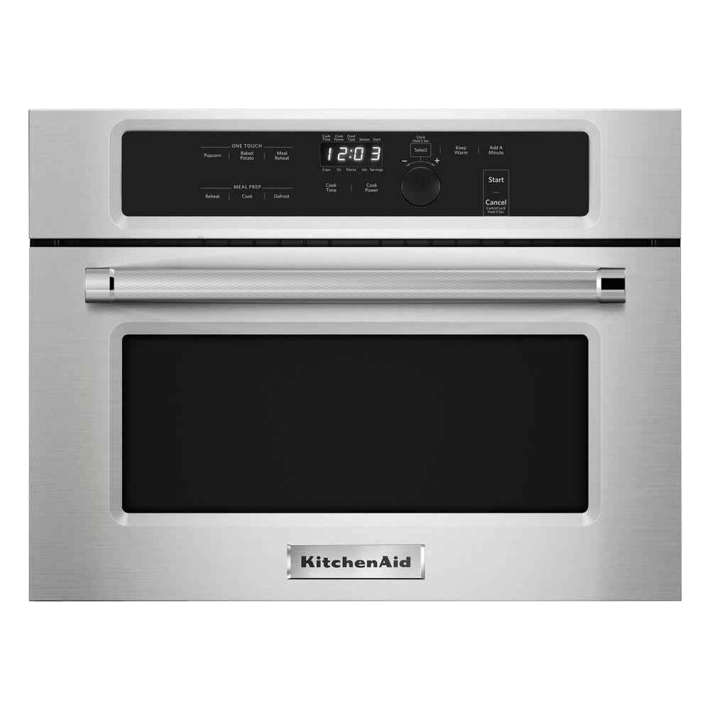 KitchenAid 1.4 Cu. Ft. Built In Microwave In Stainless Steel KMBS104ESS    The Home Depot