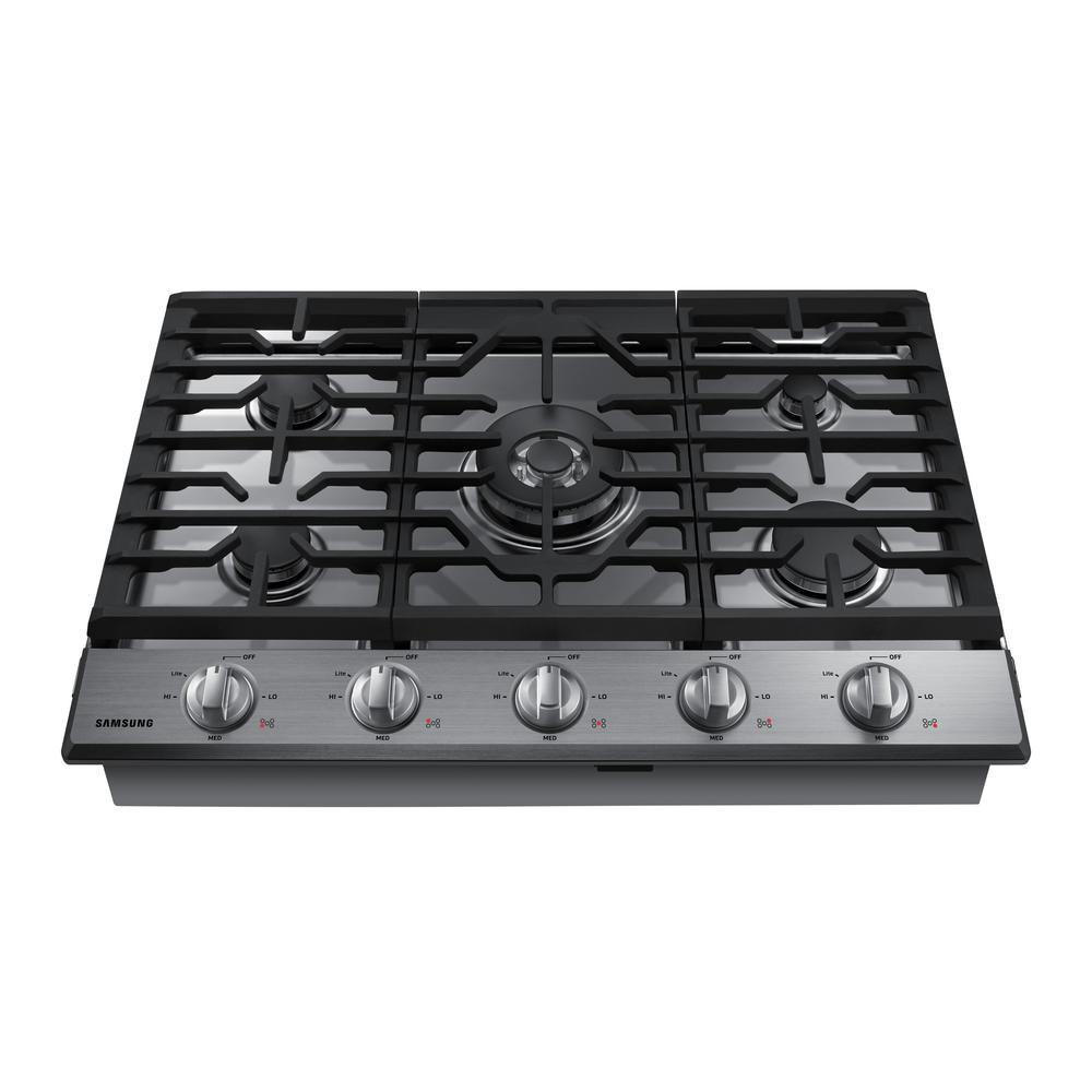 Gas Cooktop In Stainless Steel With 5 Burners Including Power Burner With  WiFi