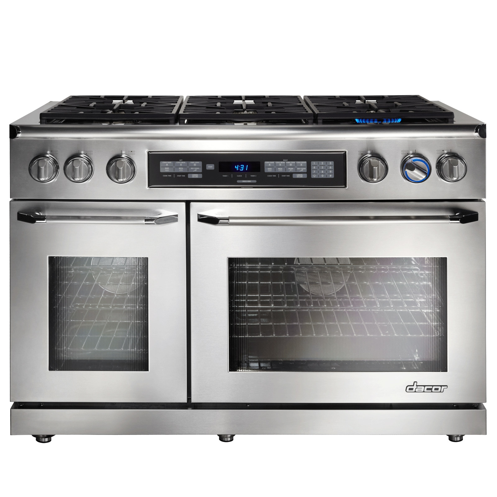 Dacor renaissance er48dsch ng dual fuel convection double for Dacor cooktop