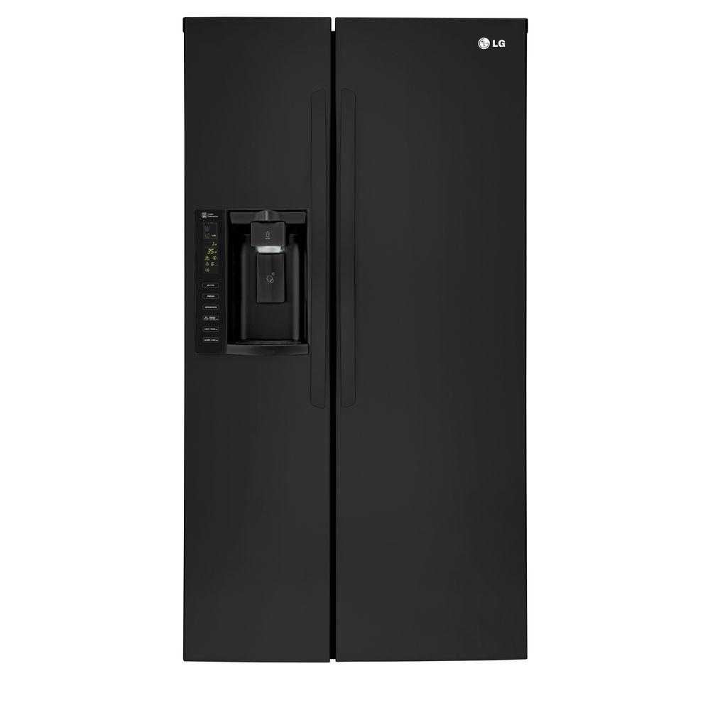 Lg Lsxs26326b 26 16 Cu Ft Side By Side Refrigerator In