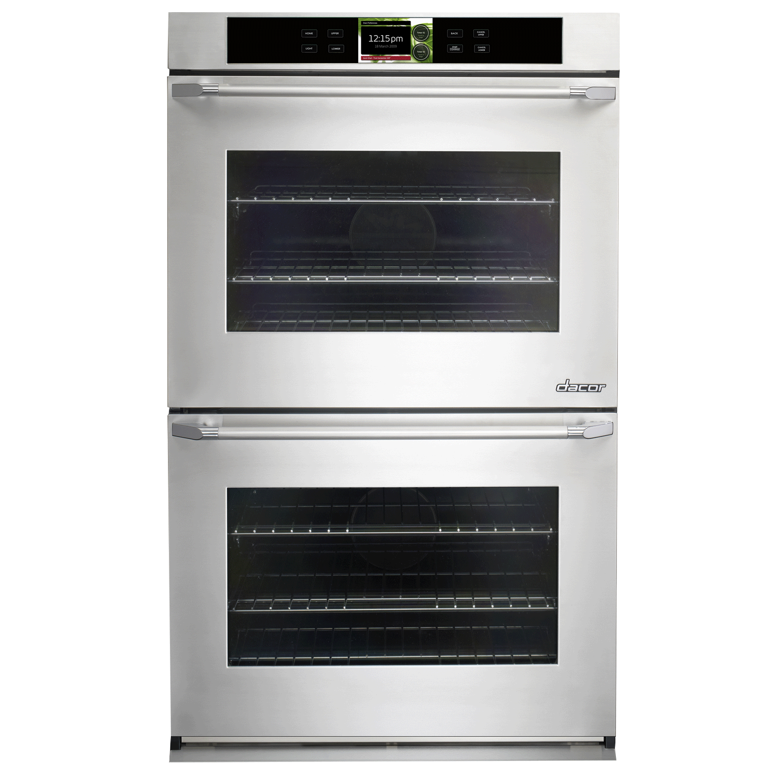 "dacor discovery dyo230ps 30 in iq double wall oven in stainless rh premierappliancestore com Dacor Dual Fuel Ranges Dacor 48"" Range"