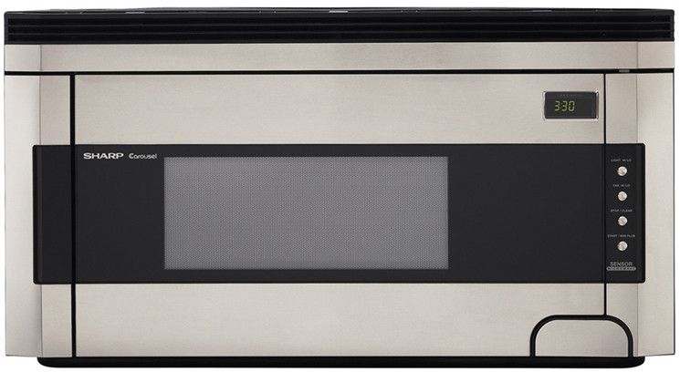 Sharp R1514t 1 5 Cu Ft Over The Range Microwave Oven
