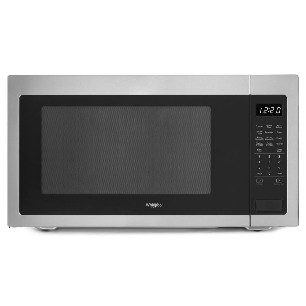 Whirlpool Wmc50522hz 2 2 Cu Ft Countertop Microwave In