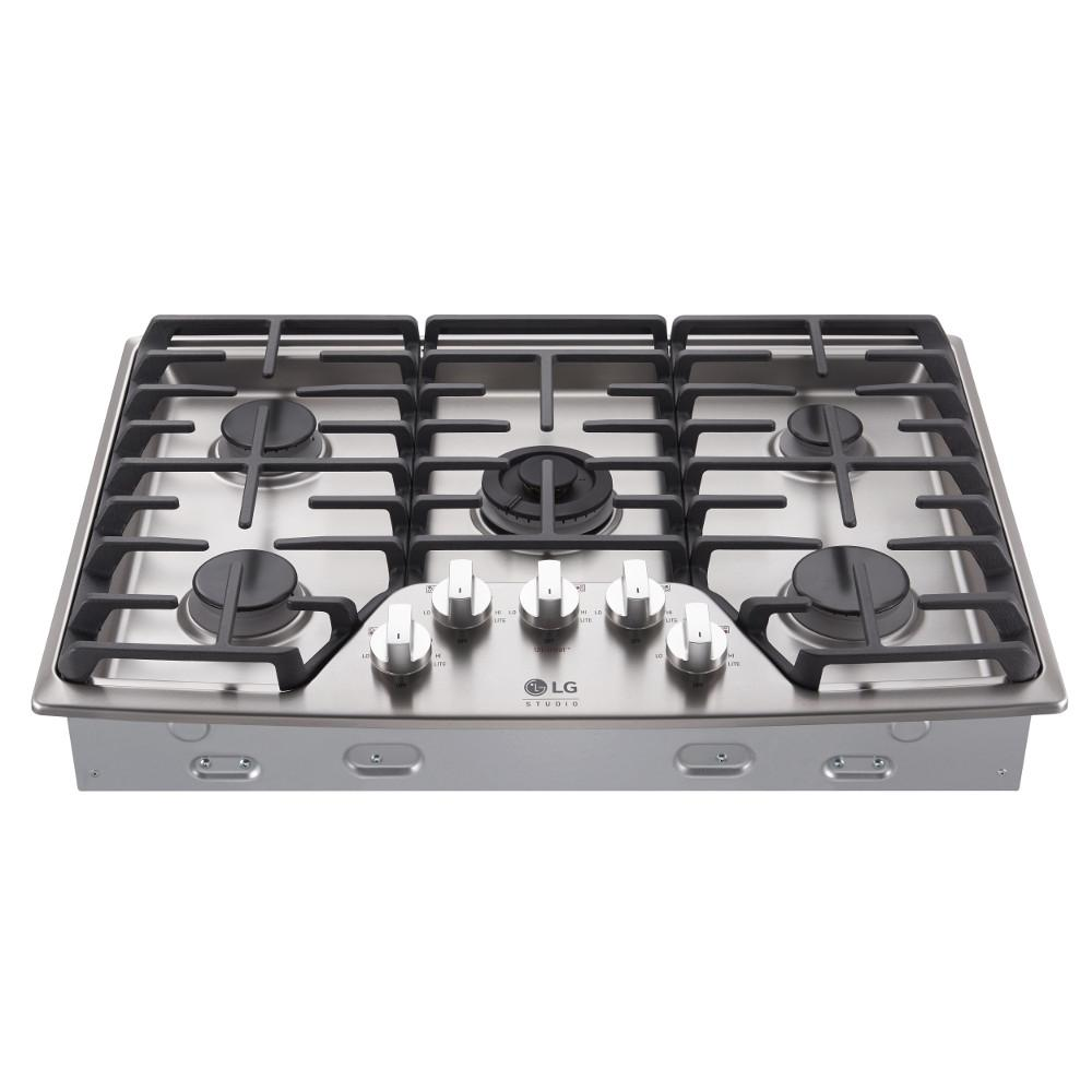 Gas Cooktop In Stainless Steel With 5 Burners Including Ultraheat Dual  Burner