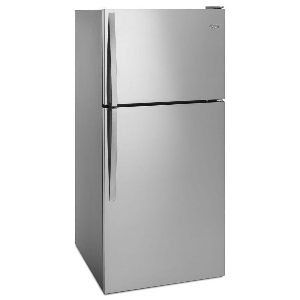 Whirlpool Wrt318fzdm 30 In W 18 2 Cu Ft Top Freezer