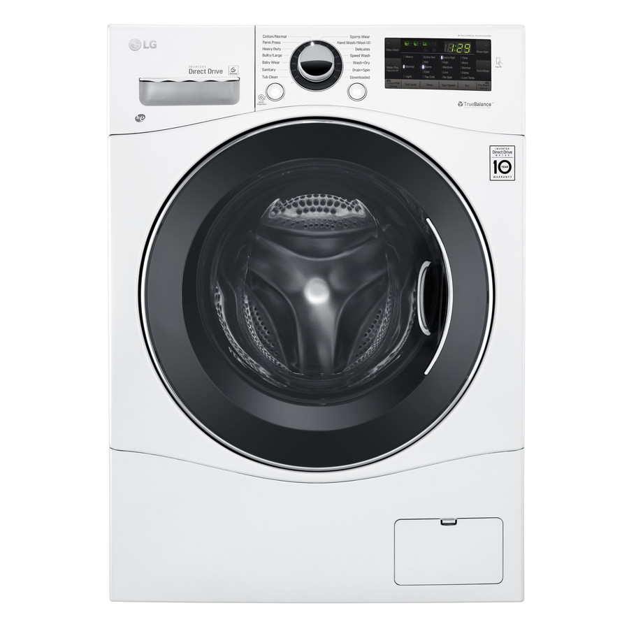 Lg Wm3488hw Compact 2 3 Cu Ft All In One Front Load Washer And Electric Ventless Dryer In White
