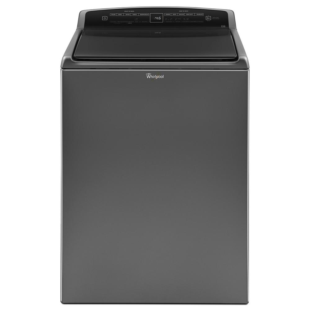 Whirlpool WTW7500GC 4.8 cu. ft. High-Efficiency Top Load Washer with  Built-In Water Faucet in Chrome Shadow, Intuitive Touch Controls
