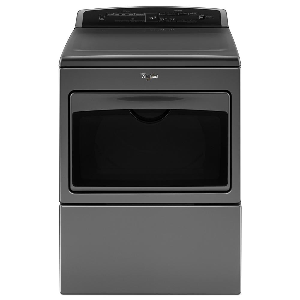 Whirlpool WED7500GC 7.4 cu. ft. 240 Volt Chrome Shadow Electric Vented  Dryer with AccuDry and Intuitive Touch Controls