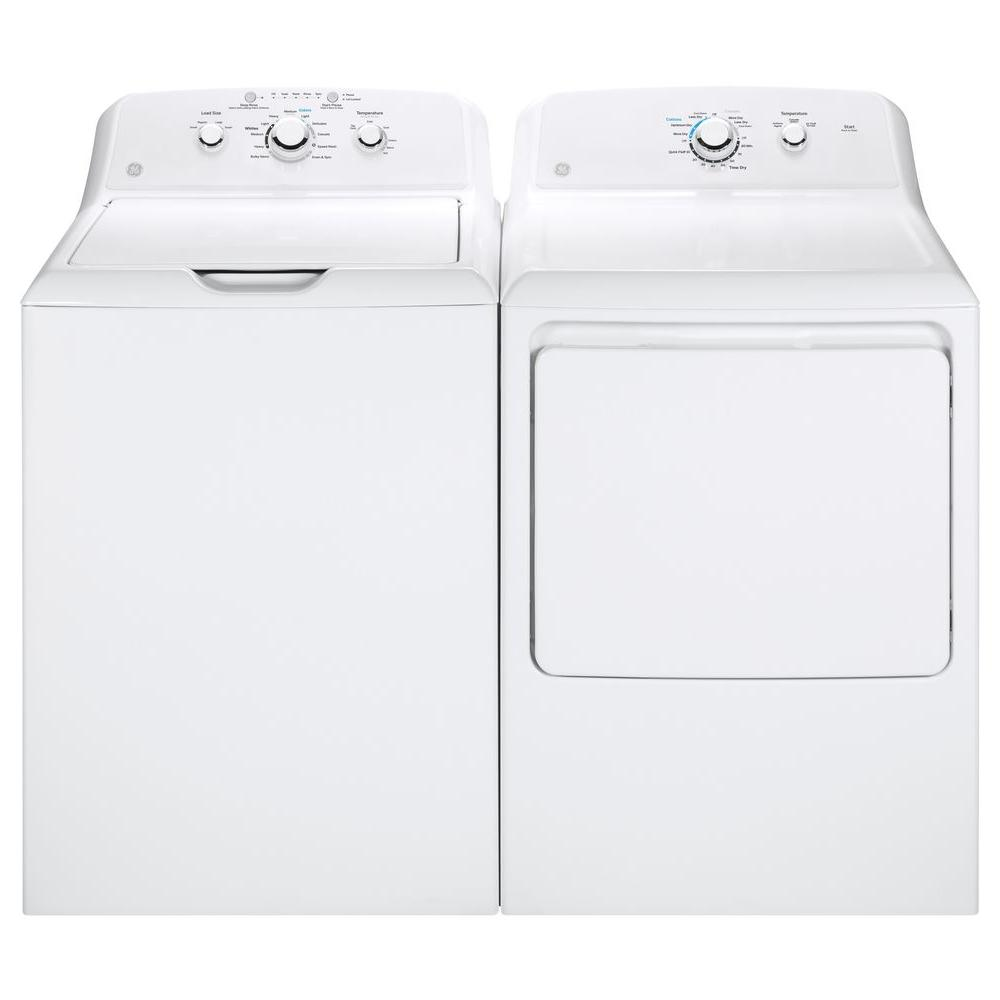 Ge Gtw330ask1ww 3 8 Cu Ft White Top Load Washer And Ge