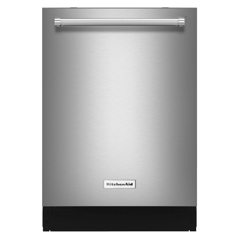 kitchenaid kdte254ess 24 in. top control dishwasher in