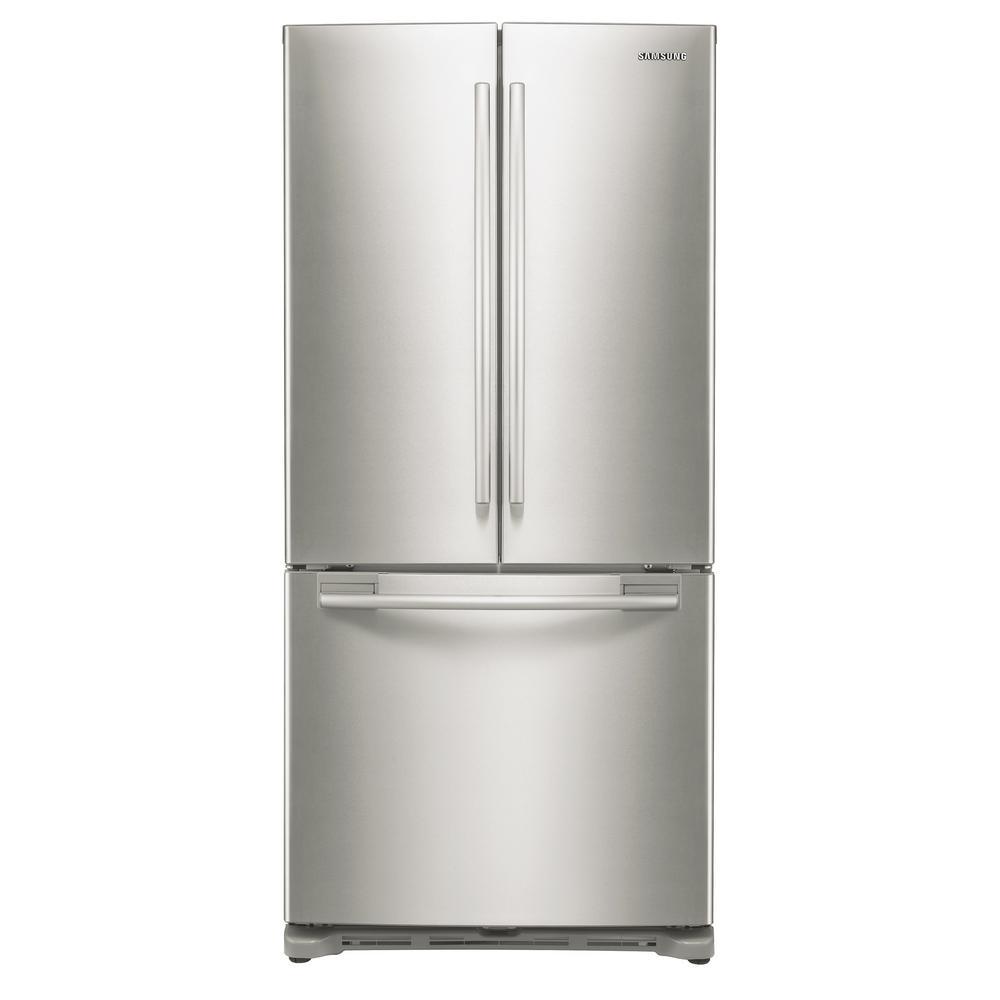 Counter Depth Refrigerators French Door: Samsung RF18HFENBSR 33 In. W 17.5 Cu. Ft. French Door