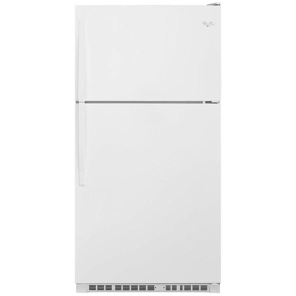 Whirlpool Wrt311fzdw 33 In W 20 5 Cu Ft Top Freezer