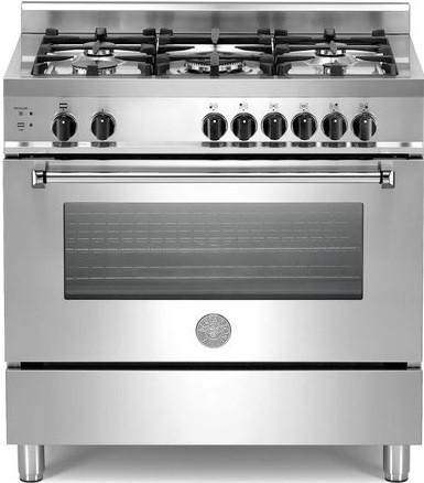 Bertazzoni 36  MAS365DFSXT Stainless Steel Dual Fuel Gas Range